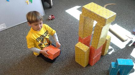 learning about engineering with blocks
