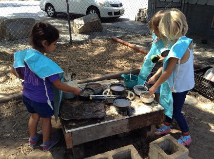 put door play- mud kitchen